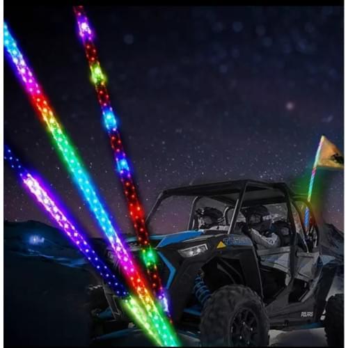 Спиральный светодиодный флагшток 121см  для багги/квадроцикла