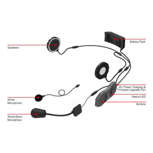 Bluetooth гарнитура 10R-01 (без пульта ДУ)